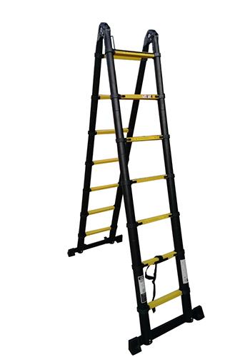 Профессиональная телескопическая лестница-стремянка 4.40м 2х7 ступ.