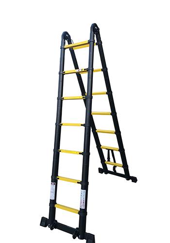 Профессиональная телескопическая лестница-стремянка 3.80 м 2х6 ступ.