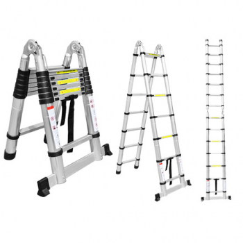 ALUMET Двухсторонняя телескопическая лестница с шарниром 2.2+2.2 м DTLH 2.2