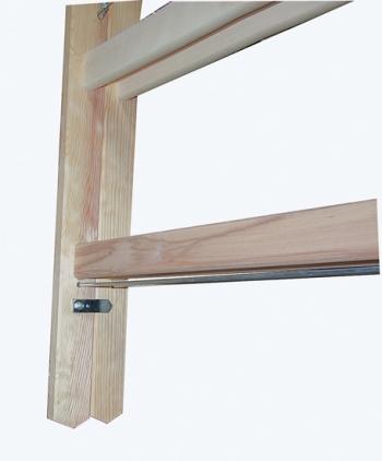 Деревянная лестница-стремянка с перекладинами 2х4 Krause
