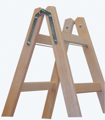 Деревянная лестница-стремянка с перекладинами 2х8 Krause
