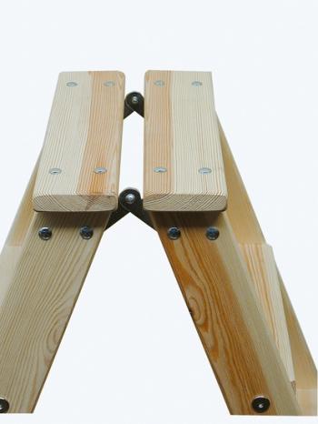 Деревянная лестница-стремянка со ступенями 2х4 Krause