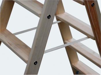 Деревянная лестница-стремянка со ступенями 2х7 Krause