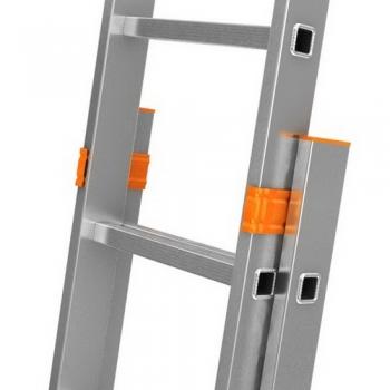 Fabilo двухсекционная выдвижная лестница 2Х18 ступ.