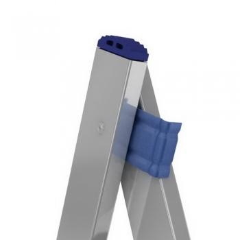 ALUMET Алюминиевая двухсекционная лестница широкий профиль 2Х16 ступ. (арт. 6216)