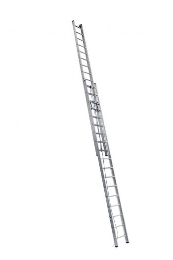 ALUMET Лестница двухсекционная 2Х20 ступ. проф. с канатной тягой серия SR2, (арт. 3220)