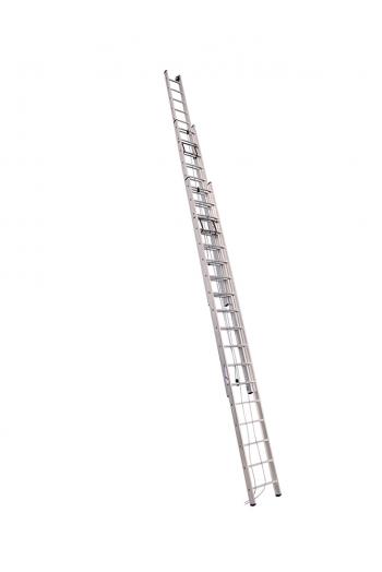 ALUMET Лестница трёхсекционная 3Х10 ступ. проф. с канатной тягой серия SR3 (арт. 3310)