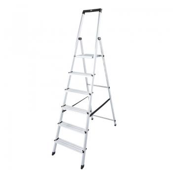 Solidy свободностоящая алюминиевая стремянка 6 ступ.