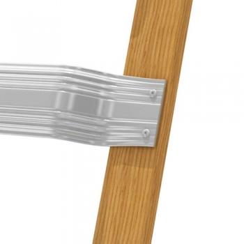 KRAUSE Лестница для крыши деревянная с алюм. ступенями 16 ступ. (арт. 804242)