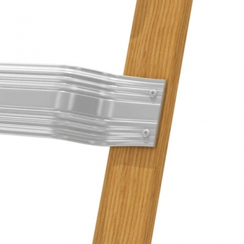 Лестница для крыши деревянная с алюм. ступенями 18 ступ. 804259