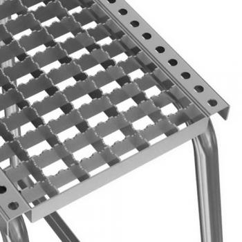 Подставка алюминиевая с решетчатыми ступенями 1 ступ.