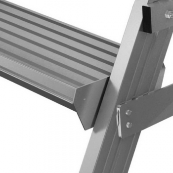 Односторонняя передвижная лестница с платформой 6 ступени Krause Stabilo