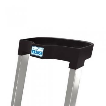 Safety алюминиевая стремянка с большой полкой 4 ступ.
