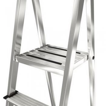 Safety алюминиевая стремянка с большой полкой 5 ступ .