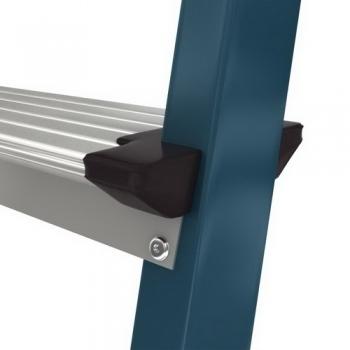 Securo анодированная стремянка с широкими ступенями 125мм. 5 ступ.