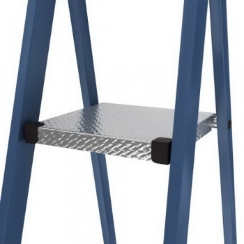 Securo анодированная стремянка с широкими ступенями 125мм. 8 ступ.