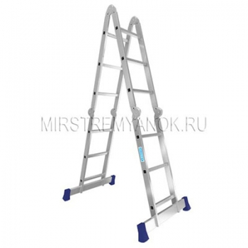 Алюминиевая четырехсекционная лестница Alumet 4Х3 арт. Т433
