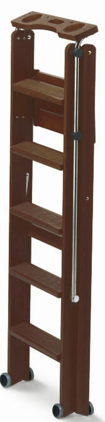 Деревянная лестница-стремянка 5 ступеней Tuscania, Каналетто (арт. 170/5K)