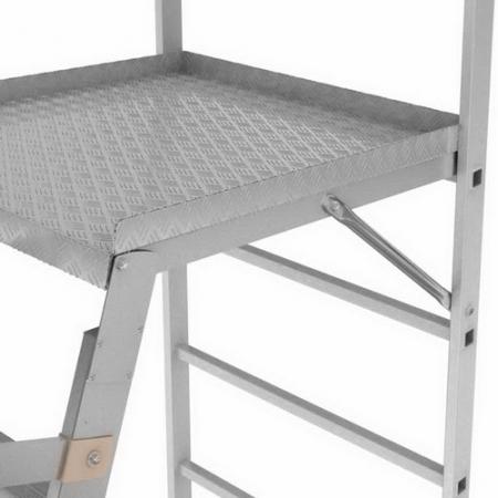 KRAUSE Stabilo Vario Kompakt Лестница с платформой 12 ступ. траверса 1365 (арт. 833174)